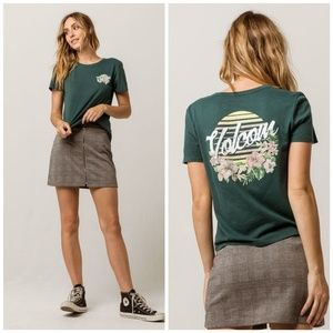 Womens Volcom Bloom Sunset T Shirt